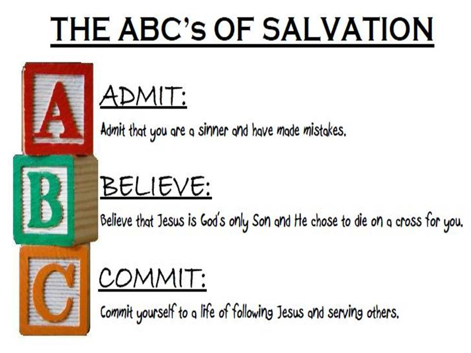 photo relating to Abc of Salvation Printable named Salvation - McCabe Memorial Baptist Church